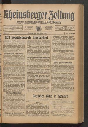 Rheinsberger Zeitung on Jun 14, 1937