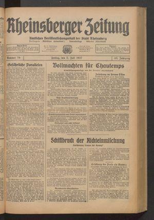 Rheinsberger Zeitung vom 02.07.1937