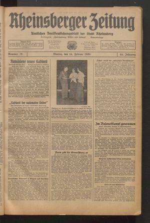 Rheinsberger Zeitung on Feb 14, 1938