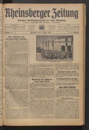 Rheinsberger Zeitung on Mar 16, 1938