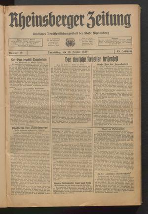 Rheinsberger Zeitung on Jan 12, 1939
