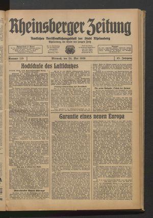 Rheinsberger Zeitung on May 24, 1939