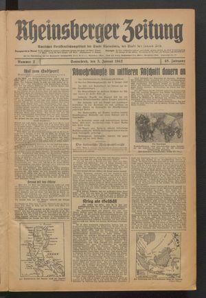 Rheinsberger Zeitung vom 03.01.1942