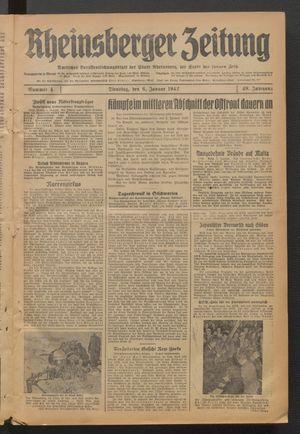 Rheinsberger Zeitung vom 06.01.1942