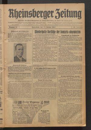 Rheinsberger Zeitung on Jan 17, 1942