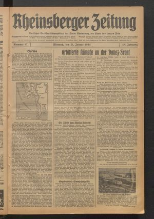 Rheinsberger Zeitung on Jan 21, 1942