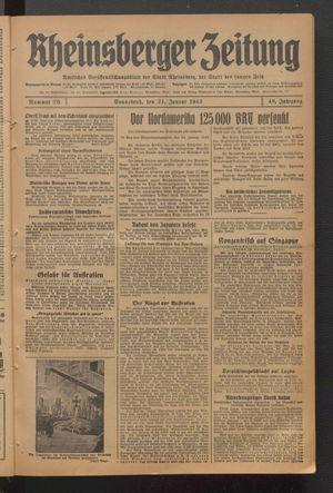 Rheinsberger Zeitung vom 24.01.1942