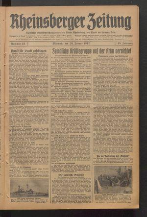 Rheinsberger Zeitung vom 28.01.1942