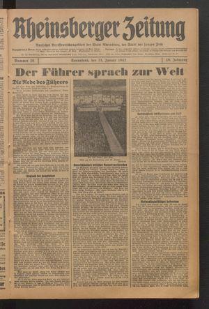 Rheinsberger Zeitung on Jan 31, 1942