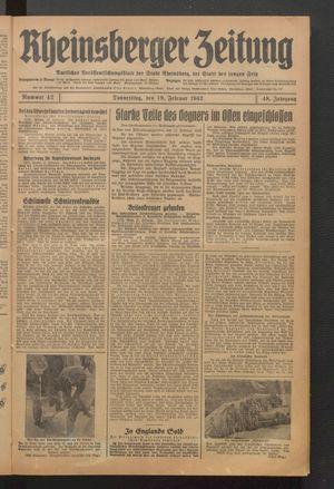 Rheinsberger Zeitung on Feb 19, 1942