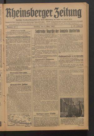 Rheinsberger Zeitung vom 03.03.1942