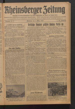Rheinsberger Zeitung vom 04.03.1942