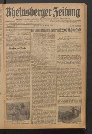 Rheinsberger Zeitung vom 06.03.1942