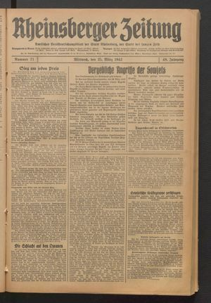 Rheinsberger Zeitung on Mar 25, 1942