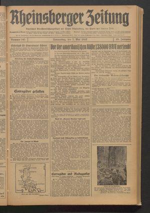 Rheinsberger Zeitung vom 07.05.1942