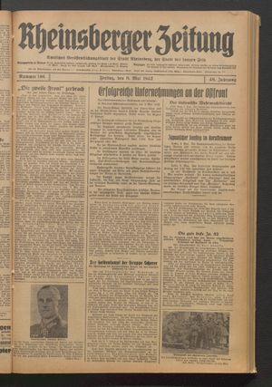 Rheinsberger Zeitung on May 8, 1942