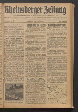 Rheinsberger Zeitung vom 09.05.1942