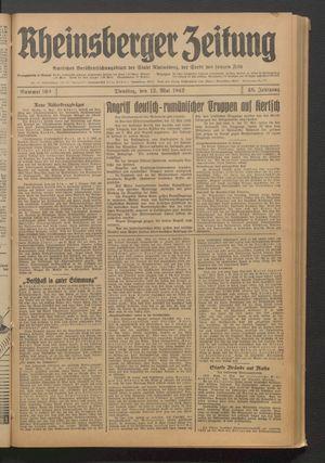 Rheinsberger Zeitung vom 12.05.1942