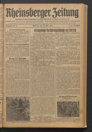 Rheinsberger Zeitung on May 13, 1942
