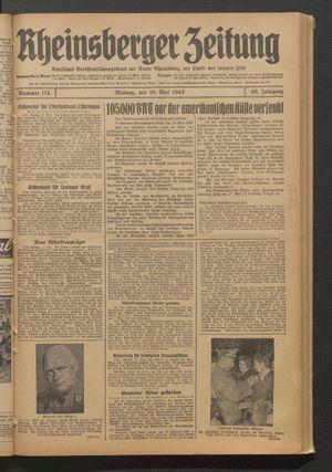 Rheinsberger Zeitung vom 18.05.1942