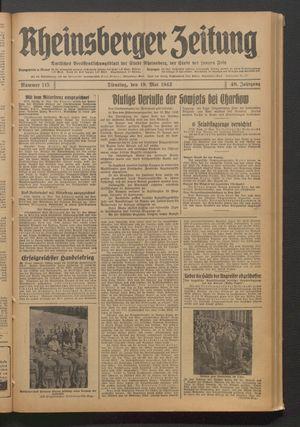 Rheinsberger Zeitung vom 19.05.1942