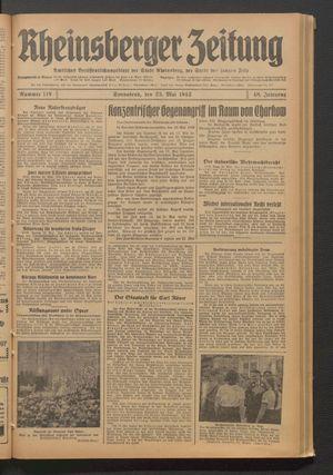 Rheinsberger Zeitung vom 23.05.1942