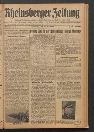 Rheinsberger Zeitung on May 28, 1942