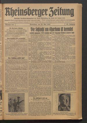 Rheinsberger Zeitung vom 30.05.1942
