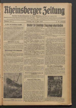Rheinsberger Zeitung on Jun 2, 1942
