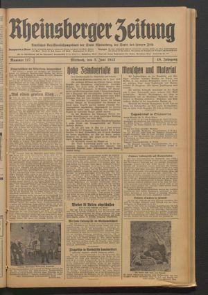 Rheinsberger Zeitung vom 03.06.1942