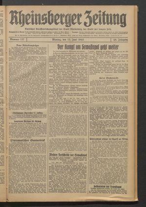 Rheinsberger Zeitung on Jun 15, 1942