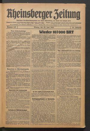 Rheinsberger Zeitung on Jun 29, 1942