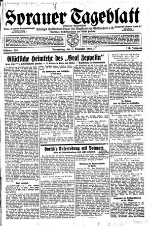 Sorauer Tageblatt vom 01.11.1928