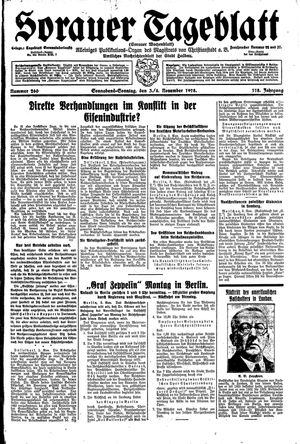 Sorauer Tageblatt on Nov 3, 1928