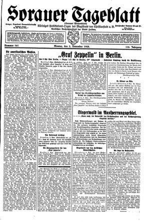 Sorauer Tageblatt vom 05.11.1928
