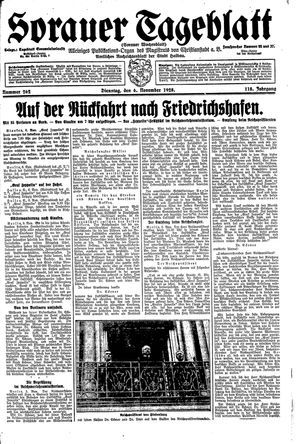 Sorauer Tageblatt vom 06.11.1928