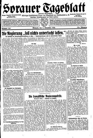 Sorauer Tageblatt vom 07.11.1928