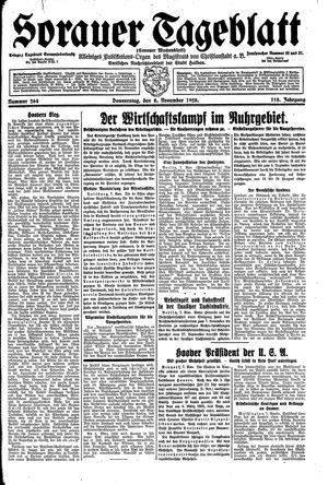 Sorauer Tageblatt vom 08.11.1928