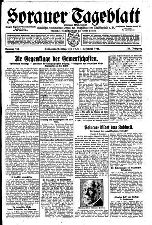Sorauer Tageblatt vom 10.11.1928
