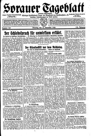 Sorauer Tageblatt vom 13.11.1928