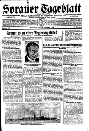 Sorauer Tageblatt vom 15.11.1928