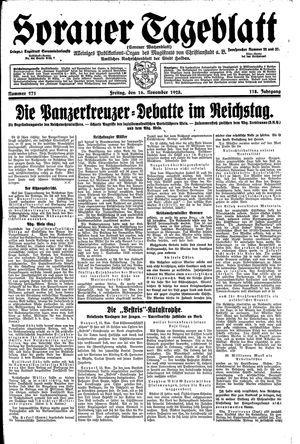 Sorauer Tageblatt vom 16.11.1928