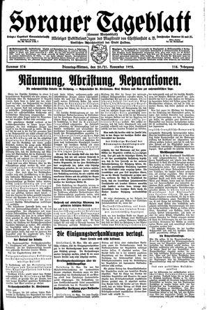 Sorauer Tageblatt vom 20.11.1928