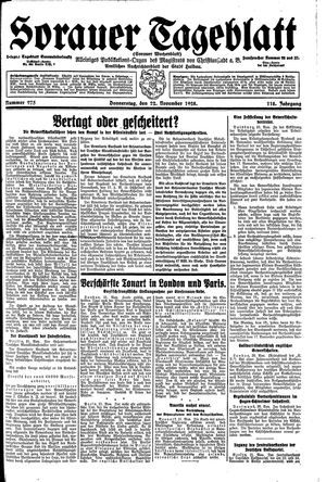 Sorauer Tageblatt vom 22.11.1928