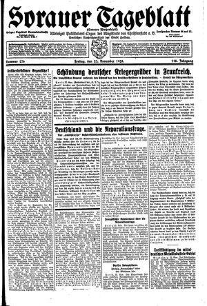Sorauer Tageblatt vom 23.11.1928