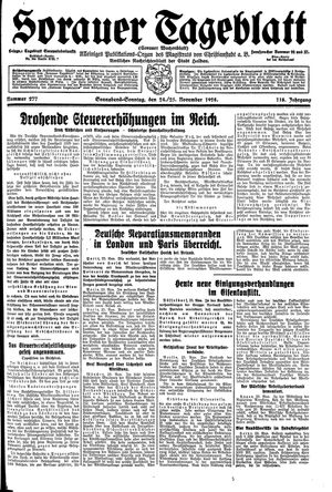 Sorauer Tageblatt vom 24.11.1928