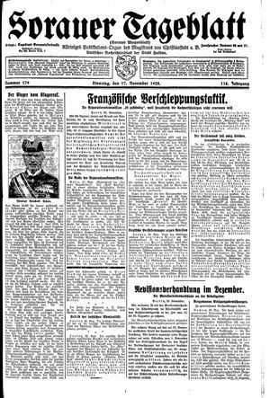 Sorauer Tageblatt vom 27.11.1928