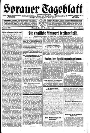Sorauer Tageblatt vom 28.11.1928