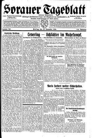 Sorauer Tageblatt vom 30.11.1928