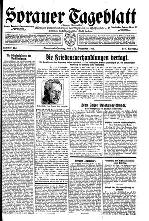 Sorauer Tageblatt vom 01.12.1928